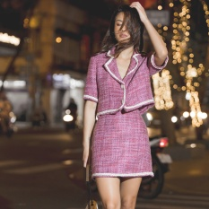 EDINI – Chân Váy Tweed chữ A 2 Màu V371 – V372