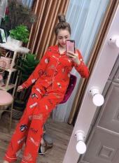 Đồ Bộ Pijama Tay Dài Vải Kate Thái Chuẩn Loại 1, CAM KẾT ĐÚNG MẪU, size dưới 60kg LHTDC