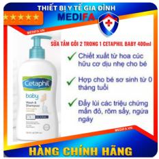 Sữa tắm gội Cetaphil cho em bé với dưỡng chất hữu cơ từ hoa cúc Calendula giúp da khỏe và tóc mềm mại 400ML