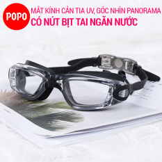 Kính bơi thể thao POPO 1940 mắt kính bơi chuyên nghiệp có gắn 2 nút bịt tai ngăn nước, chống tia UV, hạn chế sương mờ kiểu dáng thời trang
