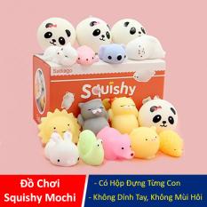 Đồ chơi Squishy Mochi dễ thương có hộp đựng từng con, đồ chơi chất dẻo không mùi, không dính tay an toàn cho bé – LICLAC