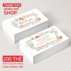 Thank You Card – Thẻ cảm ơn dành cho shop (200 THẺ)