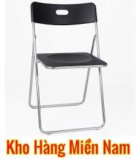 Ghế gấp INOX – Ghế xếp văn phòng INOX – Ghế ăn cao cấp giá rẻ Xuân Hòa GI 22-00 ĐEN