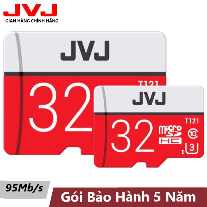 Combo 2 Thẻ nhớ 32Gb Class 10 JVJ Pro U3 – thẻ nhớ chuyên dụng camera, thẻ nhớ 32G, tốc độ cao, siêu bền, BH 5 năm, 1 đổi 1, Samsung, Oppo, Xiaomi, điện thoại android