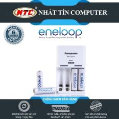 Box sạc kèm 4 pin AA Panasonic Eneloop 1900mAh BQ-CC51C Basic (Trắng) – Nhất Tín Computer
