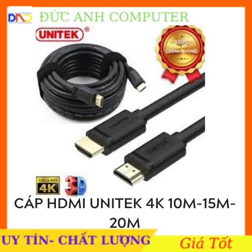 [Nhập NEWSELLERW503 giảm 10% tối đa 100K] Cáp HMDI Unitek 10M 15M 20M Ultra 4K – dây tròn – hàng chính hãng 100% – bảo hành 12 tháng- 1 ĐỔI 1
