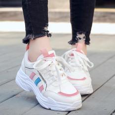 Giày thể thao nữ độn đế chữ Fashion