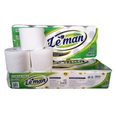 Combo 2 lốc giấy vệ sinh 3 lớp Leman xanh lá (10 cuộn/ lốc)