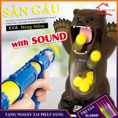 Đồ chơi ném gấu bằng dụng cụ chọi bông mềm nén khí,combo đồ chơi giải trí,an toàn cho bé