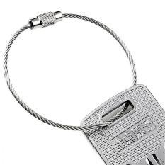 Vòng dây thép móc chìa khoá (bạc)