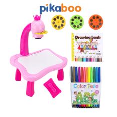 Đèn bàn máy chiếu học vẽ thông minh cho bé Pikaboo