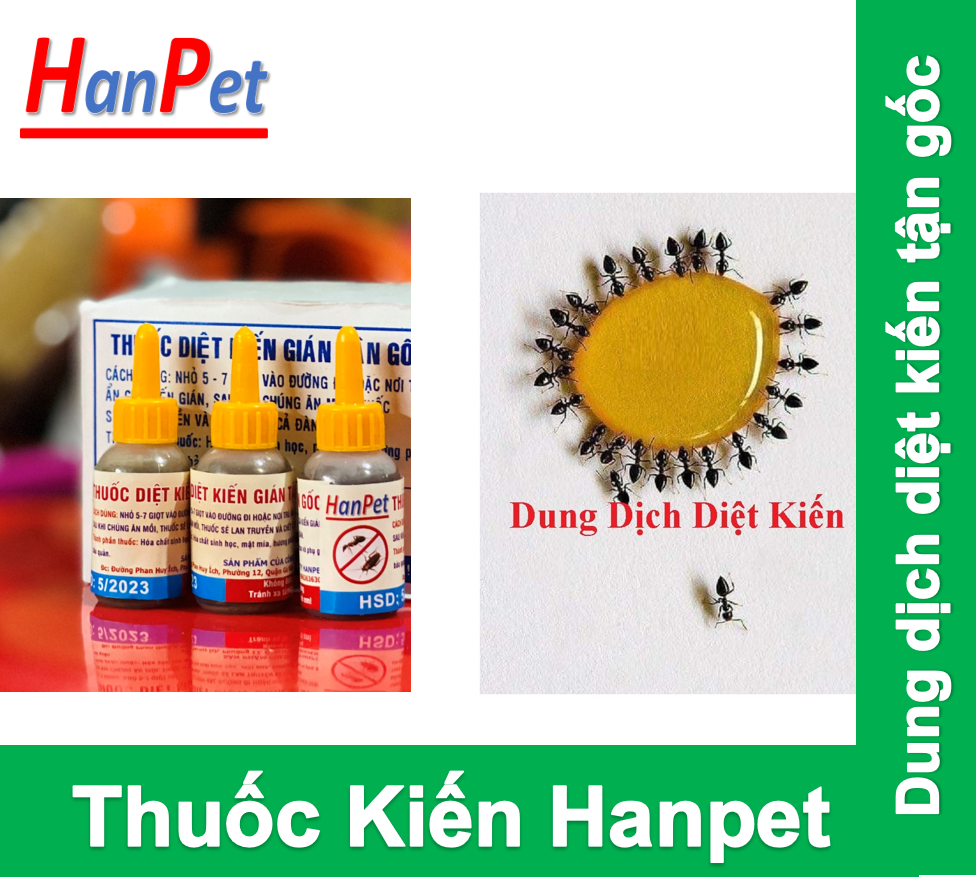 HCM – (Combo 3 lọ 10ml ) Dung dịch Diệt kiến Hanpet dạng dung dịch diệt kiến gián tận gốc / kiến lọ / kiến sinh học / diệt gián kiến / gián / diệt côn trùng / kiến đỏ