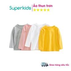 [Lấy mã giảm thêm 30%]Áo thun trơn cổ tròn nhiều màu cho bé 8-18kg QATE512 quần áo trẻ em