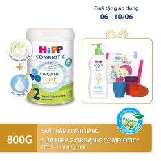 [QUÀ TẶNG HOT] Sữa bột dinh dưỡng công thức HiPP 2 Organic Combiotic chất lượng hữu cơ tự nhiên an toàn, hỗ trợ, tăng cường sức khoẻ hệ miễn dịch, bổ sung Omega 3 (DHA & ALA) dành cho trẻ từ 6 đến 12 tháng tuổi 800g