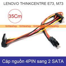 Dây chuyển nguồn từ 4PIN Mainbroard Lenovo Thinkcentre E73 M73 ra 2 SATA power HDD SSD DVD-R Brawis BR-CB4P2ST35CM