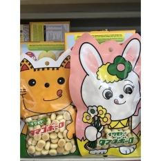 Bánh Men Sữa 50G Hình Thỏ Mèo Nhật Bản, Chống Hóc Cho Bé, Bánh Dễ Tan, Bánh Ăn Dặm Kiểu Nhật