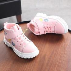 [PHOM NHỎ] Giày thể thao giày bé gái lót lông cổ cao siêu ấm siêu êm