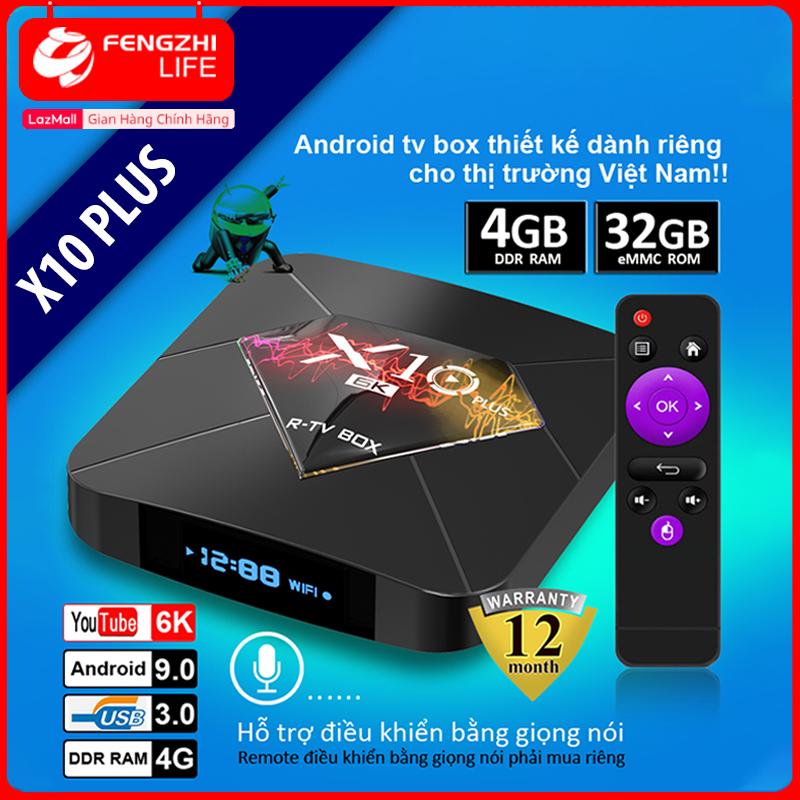 Android TV Box X10 Plus Hàng Chính Hãng Ram 4GB ,Hỗ Trợ Xem Chất Lượng HD 6K , Bộ Nhớ Trong 32GB . Hỗ Trợ Cổng HDMI , Không Hỗ Trợ CỔng AV, Có Chức Năng Tìm Kiếm Giọng Nói , Android TV Box Thiết Bị Thông Minh , Sản Phẩm Bảo Hành 1 Năm