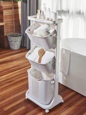 Kệ nhựa đa năng để đồ cho mẹ và bé, kệ 3 tầng có bánh xe HCM