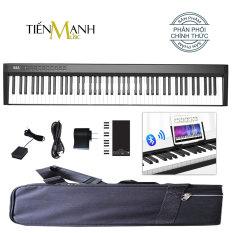 Đàn Piano Điện Konix PH88C 88 Phím nặng Cảm ứng lực cao cấp – Loa kép, Bluetooth, Pin sạc, Kèm Bao Đựng, Sustain Pedal, Giá để bản nhạc, Cùng Cáp sạc, Bộ sạc