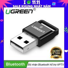 USB Bluetooth 4.1 CSR hỗ trợ Aptx dùng cho máy tính để bàn hoặc laptop UGREEN US192 30524 – Hãng phân phối chính thức