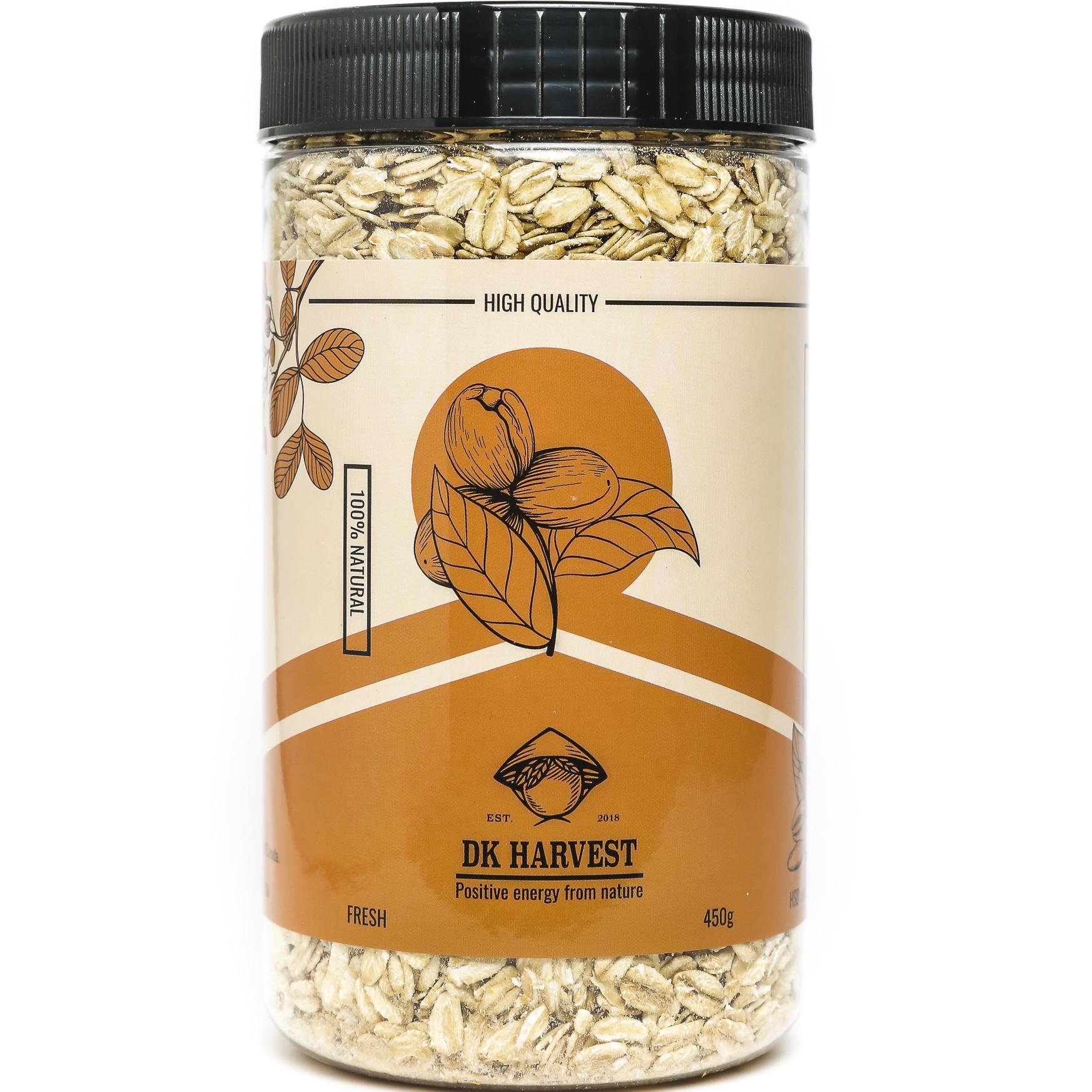 Yến mạch nguyên hạt DK HARVEST Nhập Khẩu Úc 450g – yến mạch tươi ăn liền nguồn cung cấp chất xơ tốt, đặc biệt là beta glucan và rất giàu các vitamin, khoáng chất và chất chống oxy hóa