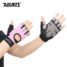 Găng tay nửa ngón tập gym cao cấp Half finger fitness gloves AOLIKES A-113