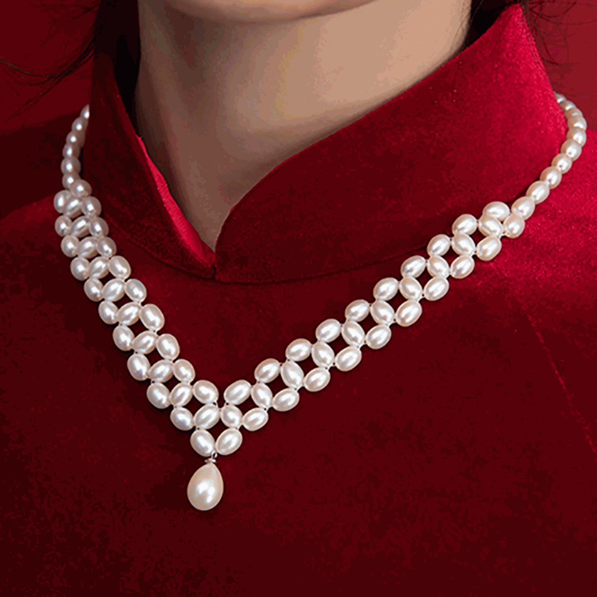 Vòng ngọc trai cao cấp, thời trang quý phái Queen Pearl DB2120 Bảo Ngọc Jewelry