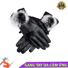 Găng tay da nữ FW01 cảm ứng lót lông mềm mại