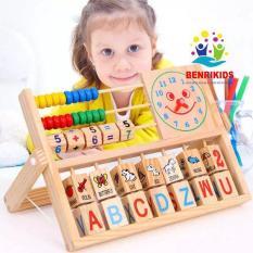 Giáo Cụ Montessori, Kệ Học Chữ Tiếng Anh, Tập Làm Toán Và Xem Đồng Hồ Bằng Gỗ Cho Bé, Đồ Chơi Cho Bé, Đồ Chơi Học Toán, Đồ Chơi Thông Minh