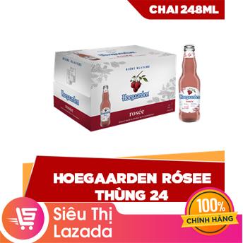 [FREESHIP HCM & HN] Thùng 24 Hoegaarden Rosée chai 248ml