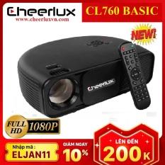 [Nhập ELJAN11 giảm 10%, tối đa 200k, đơn từ 99k]Máy chiếu phim Full HD projector Cheerlux Cl760-UPnâng cấp 9/2020 xem nét 150 Inch đèn Led 150W 3600 Lumens sáng rõ Zoom điện tử.