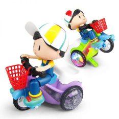 Đồ chơi em bé lái xe đạp bốc đầu xoay 360 độ phát sáng có nhạc vui nhộn