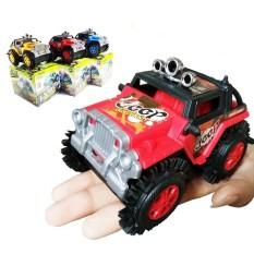 Mô hình xe ô tô địa hình Crazy Racers (CHẠY PIN ) có bánh răng cao su cho bé xoay 180 độ