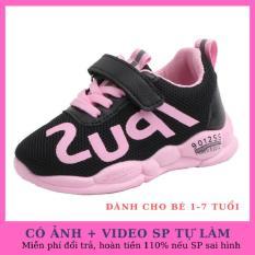 Giày bé gái Ipus màu hồng phong cách HQ chất liệu sợi tổng hợp cao cấp dành cho bé từ 1-8 tuổi