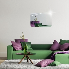 Gương dán tường- Gương dán tường 3D siêu rõ nét kích thước 42 x 27 hình chữ nhật, Gương Trang Điểm, Gương Soi Toàn Thân, Guơng Trang Trí Phòng tắm