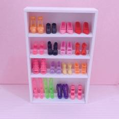 Combo 5 đôi giày và kệ để giày cho búp bê babies, xinyi, licca
