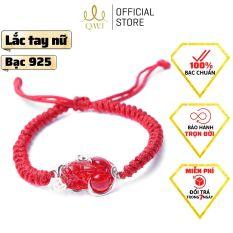 QMJ Vòng tay chỉ đỏ tỳ hưu phong thủy tài lộc mang may mắn cho chủ nhân bạc 925 cao cấp – QKL282