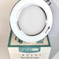 Bộ 3 đèn LED âm trần tán quang tiết kiệm điện Gnesco 7W (Vàng ấm)