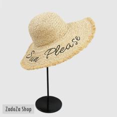 Mũ cói đi biển SUN PLEASE được bán bởi Zadoza