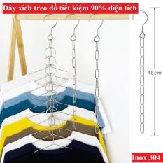 Dây phơi đồ treo móc quần áo Inox – Dây xích treo quần áo tiết kiệm 90% diện tích – Chất liệu Inox 304 không gỉ sét