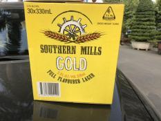[HCM] Bia Úc Sounthern Mills GOLD 1 thùng 30 lon x 330 ml