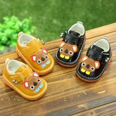 Giày tập đi cho bé trai đế mềm êm chân có kèn hình gấu dễ thương cho bé 0-2 tuổi – NG6