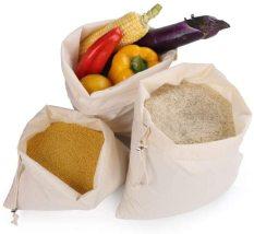 Túi cotton dây rút bảo quản thực phẩm khô