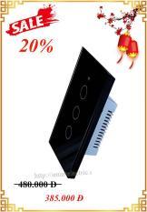 Công tắc cảm ứng wifi 3 nút ( trắng đen) – Bảo hành 24 tháng