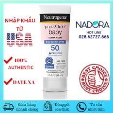 Kem Chống Nắng Neutrogena Pure & Free Baby Sunscreen Broad Spectrum SPF 50 (88ml)