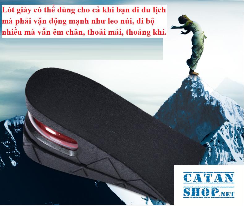 ❤️TRỢ GIÁ❤️ Combo 4 miếng lót đế giày tăng chiều cao Air có đệm khí siêu êm ái, giày đế cao, giày độn gót GD233-LGIAYTCC