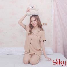Bộ ngủ đũi lụa pijama Siky
