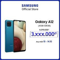 Điện thoại Samsung Galaxy A12 (4GB/128GB) – Cụm 4 camera 48MP – Pin trâu 5.000mAH – Sạc nhanh 15W – Miễn phí vận chuyển – Trả góp 0% – Bảo hành chính hãng 12 tháng