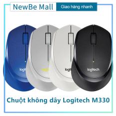 【New Be】(có pin) Chuột không dây Logitech M330 Silent Plus – Không có tiếng click khi sử dụng, Chuột công thái học